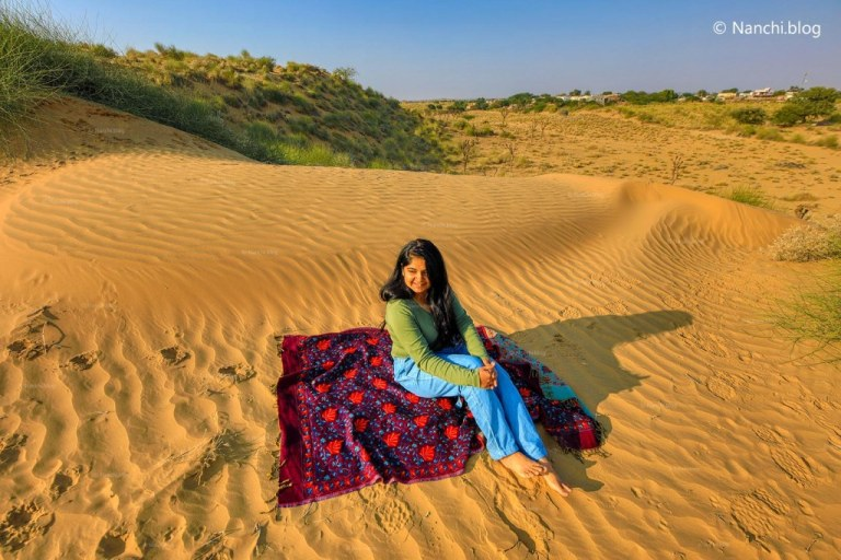 Nanchi on sand dune in Bikaner